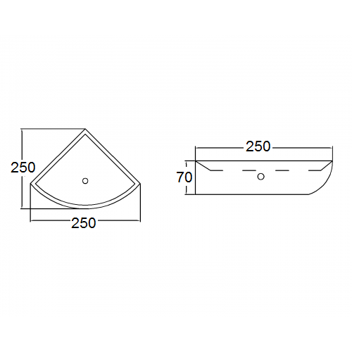 H110 SCREW TO WALL SOAP DISH
